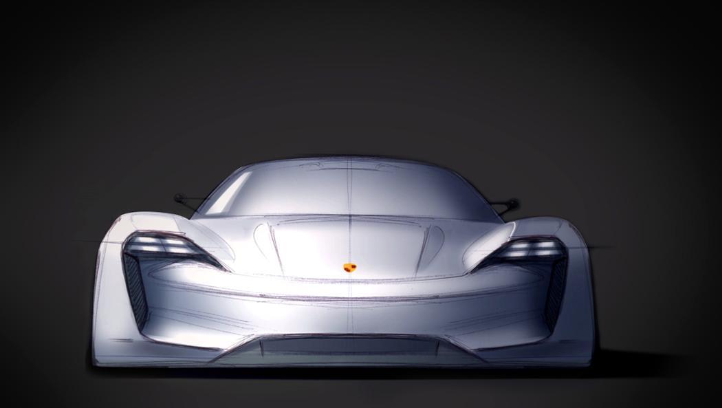 Mission E, design sketch, 2016, Porsche AG