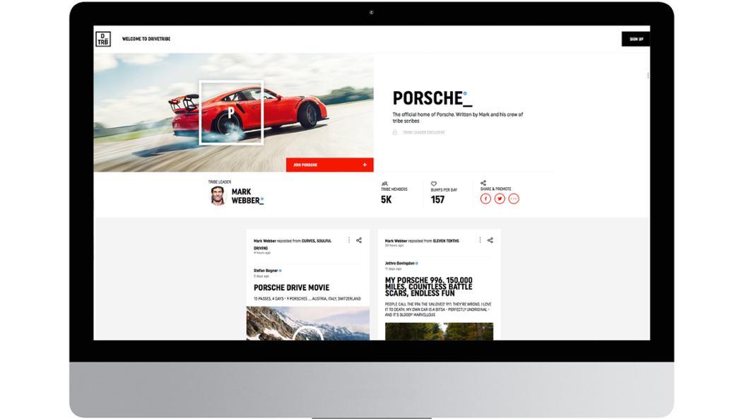Porsche channel, DriveTribe, 2016, Porsche AG